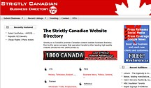 Strictly Canadian Web Page