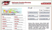 TryCanada Web Page