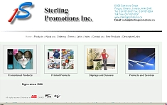 Sterling Promotions Inc. website