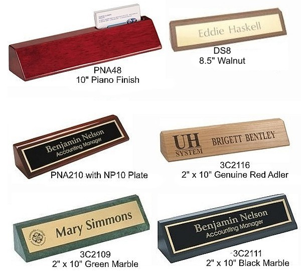 Desk Wedges with Name Plates