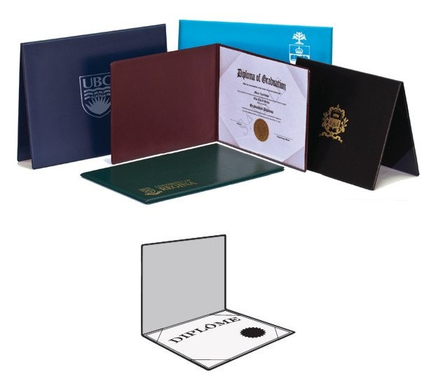V61-Diploma Holders - 4 Clear Vinyl Corners