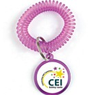 WCL - Coil Wrist Key Chains - Label