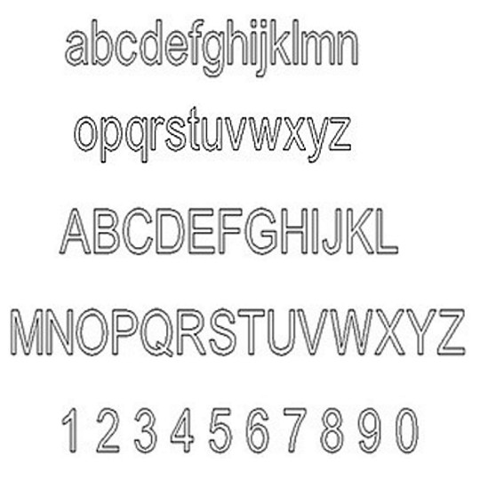 Engraving Arial Classic Font