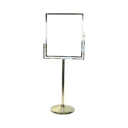 Chrome Finish Floor Stand